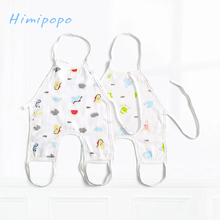HIMIPOPO Baby Belly Protect Bibs Lunch Burp Infants Boys Girls Cartoon Bibs Clothes Keep Warm Care Newborn Jumpsuits Pattern