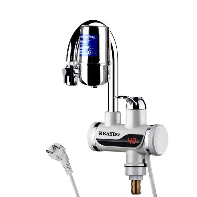 KBAYBO 3000 W Instantané Chauffe Eau électrique Robinet Cuisine Robinet  Filtre à Eau Instantanée UE