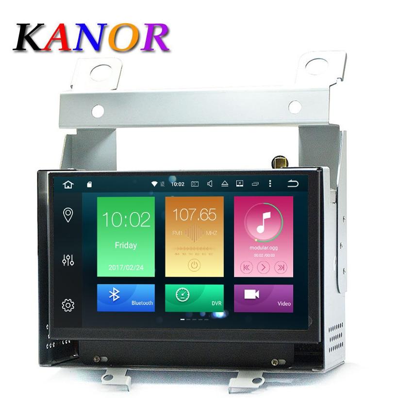KANOR Android 8.0 Octa Core 4g + 32g 7 pouces 2 Din Voiture GPS Navigateur Pour Land Rover freelander 2 Avec Radio Audio Bluetooth WIFI Carte