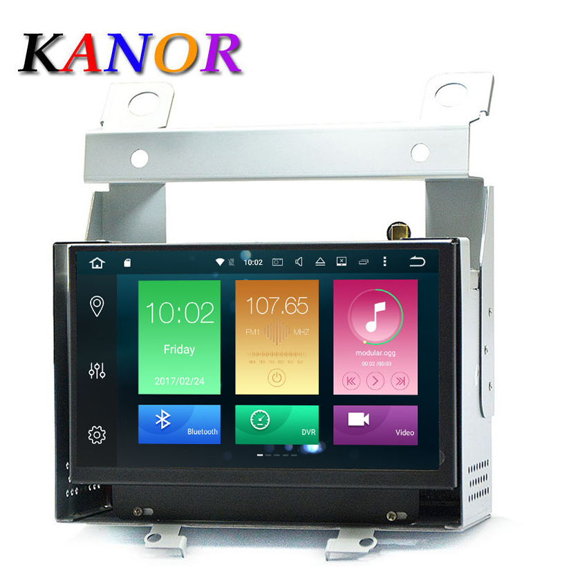KANOR Android 8.0 Octa Core 4g+32g 7inch 2 Din Car GPS Navigator For Land Rover Freelander 2 With Radio Audio Bluetooth WIFI Map