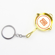 2019 Hot PUBG 3D Keychain Eat Chicken Game Surrounding Weapon Model 98K Saucepan Metal Pendant Keychain Men Women Small Gifts 2018 hot pubg fps game player unknown s battle grounds 3d keychain weapon eat chicken game tonight men s car keychain