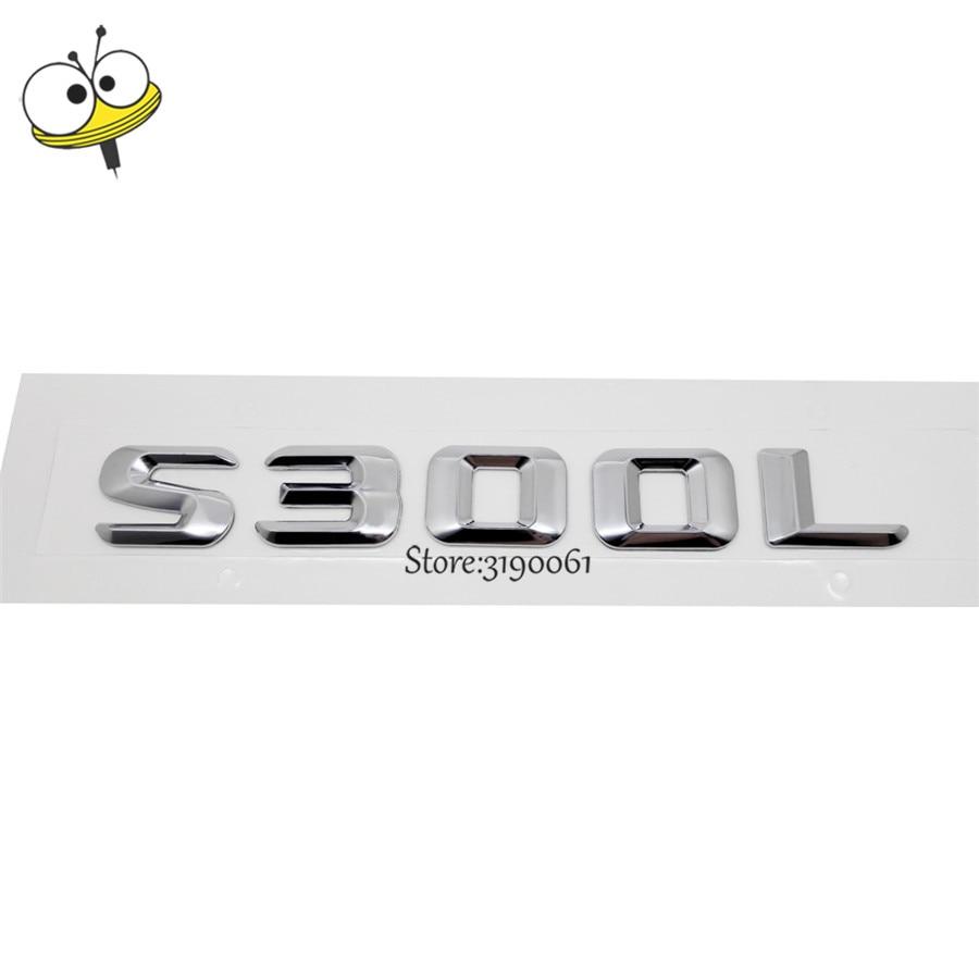 Car Accessories Metal Number Letter Car Rear Sticker Emblem Badge Decal Car Auto Decoration For Mercedes Benz S Class S300L GT