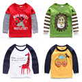 Male child long-sleeve T-shirt 2017 child 100% cotton basic shirt children's clothing spring and autumn baby cartoon top