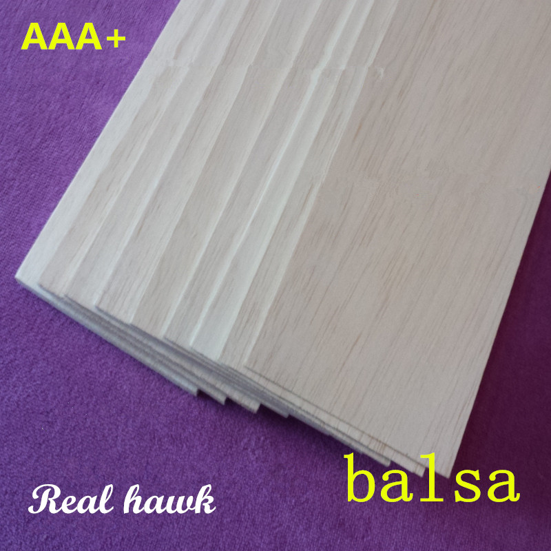Balsa Wood Sheets lags 250mm lang 100mm bred 0.75 / 1 / 1.5 / 2 / 2.5 / 3/4/5/6/7/8/9 / 10mm tykk 10 stk / mye for RC flybåt modell DIY