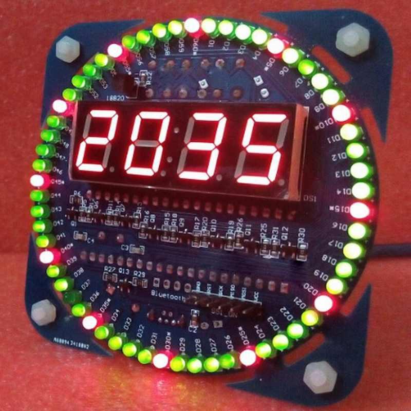 DIY DS1302 вращения светодиодный набор для электронных часов 51 СКМ обучения доска