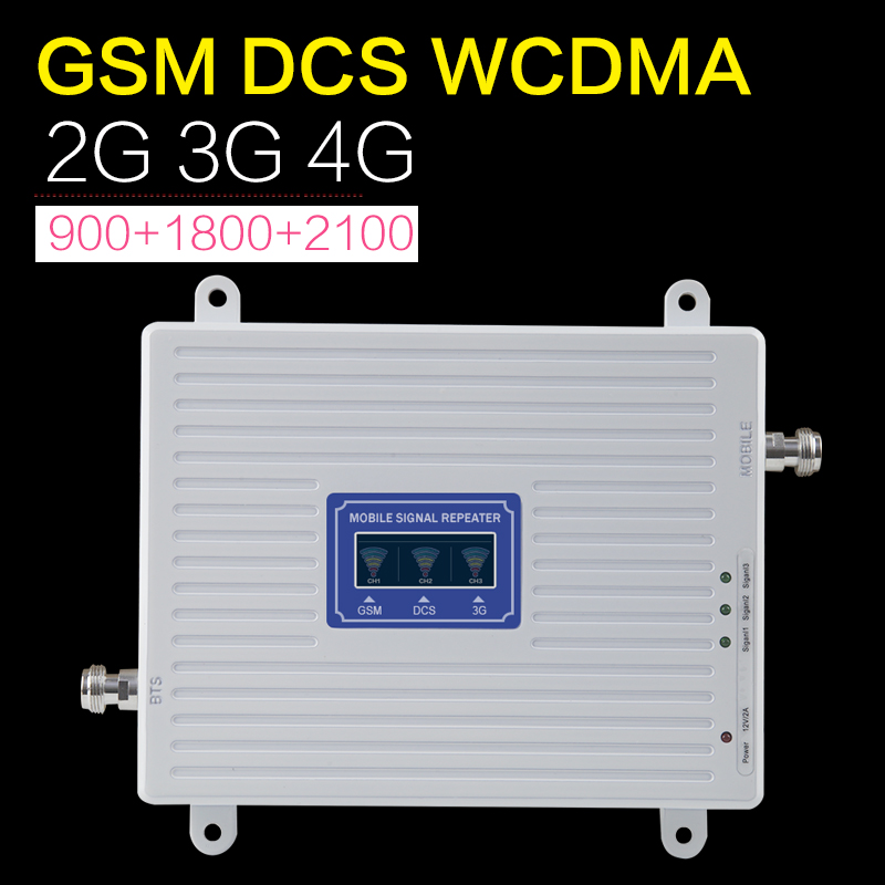Image 3 - GSM 2g 3g 4g Amplifier 70dB GSM WCDMA DCS LTE Tri Band Mobile Phone Signal Booster 2g 3g 4g Signal Repeater LTE Cellualr Antenna-in Signal Boosters from Cellphones & Telecommunications