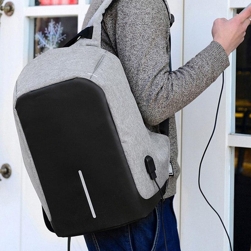 Multi function Men Backpack Polyester Fiber Student Shoulder Bag Computer Package For Business Travel