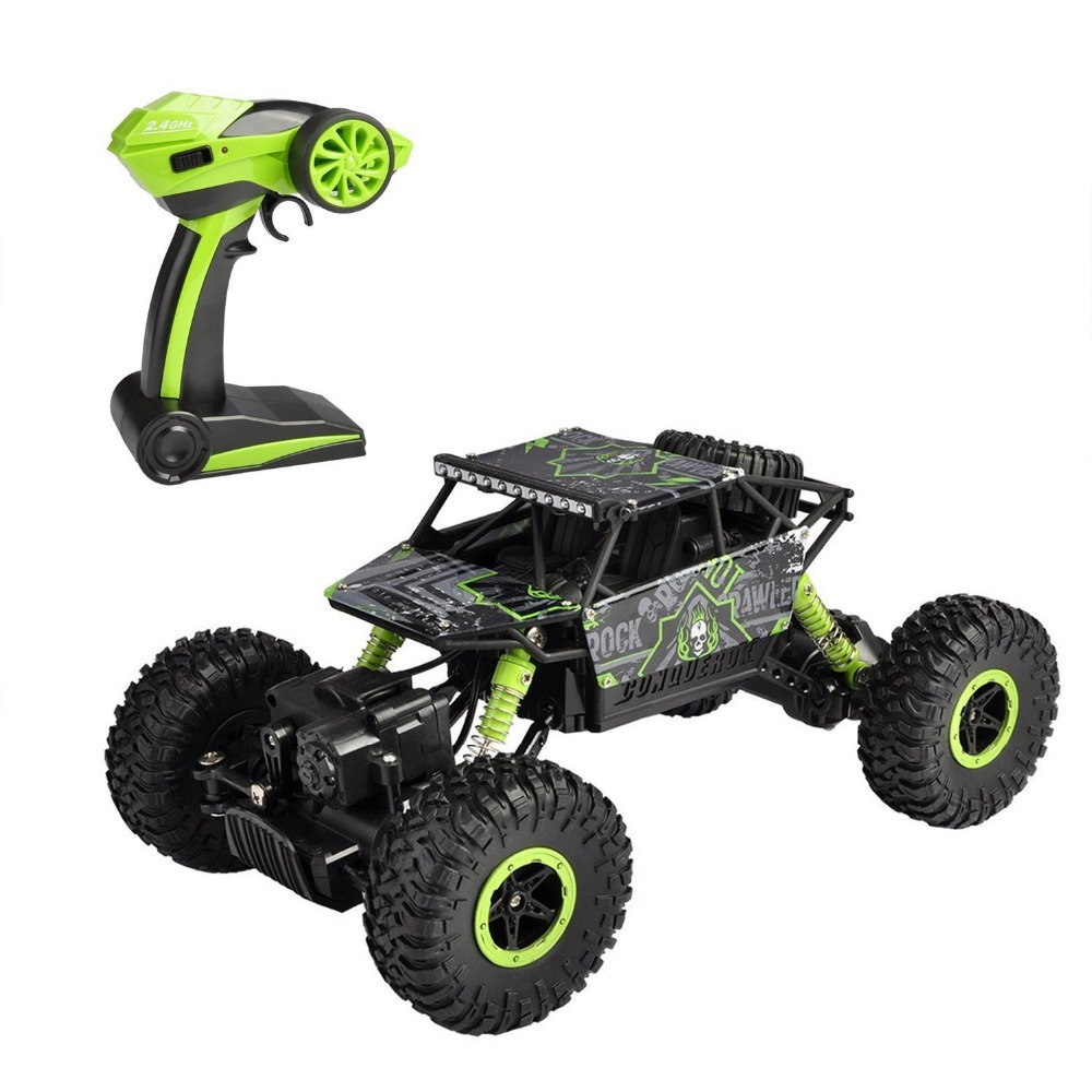 EBOYU 1801 RC Car Rock Off-Road Racing Vehicle RC Crawler Truck 2.4Ghz 4WD High Speed 1:18 Radio Remote Control Buggy RTR