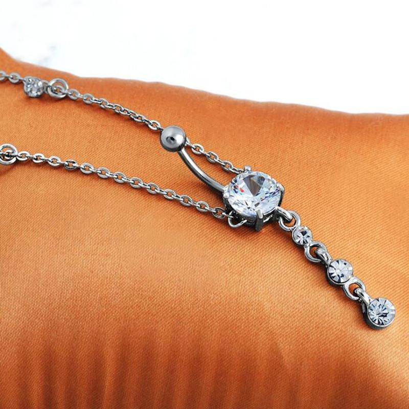 HTB1I7CoRpXXXXXeaXXXq6xXFXXXJ 2-In-1 Rhinestone Studded Belly Chain Dangle Navel Ring - 2 Styles