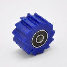 Синий цепной натяжитель ролика приводной ремённой шкив руководство для Yamaha WR250F WR450F YZ250F YZ450F подходит Байк мотокросс Мотогонки