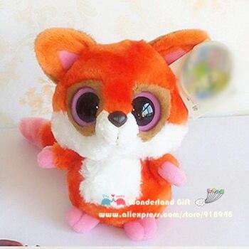 Una pieza, súper lindo zorro rojo de fuego de peluche de juguete para niños, regalo de cumpleaños, niños niñas niños animales de dibujos animados juguetes de calidad limitada