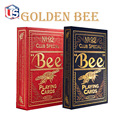1set High Quality Bee Golden Deck Bicycle Magic Props Magic Playing Cards Magia Poker Playing Card Magic Tricks for Magician