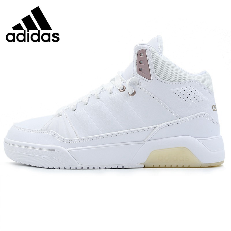 Original brand new 2018 Adidas NEO label PLAY9TIS women's white classic skateboard shoes comfortable wear sneakers EE8050