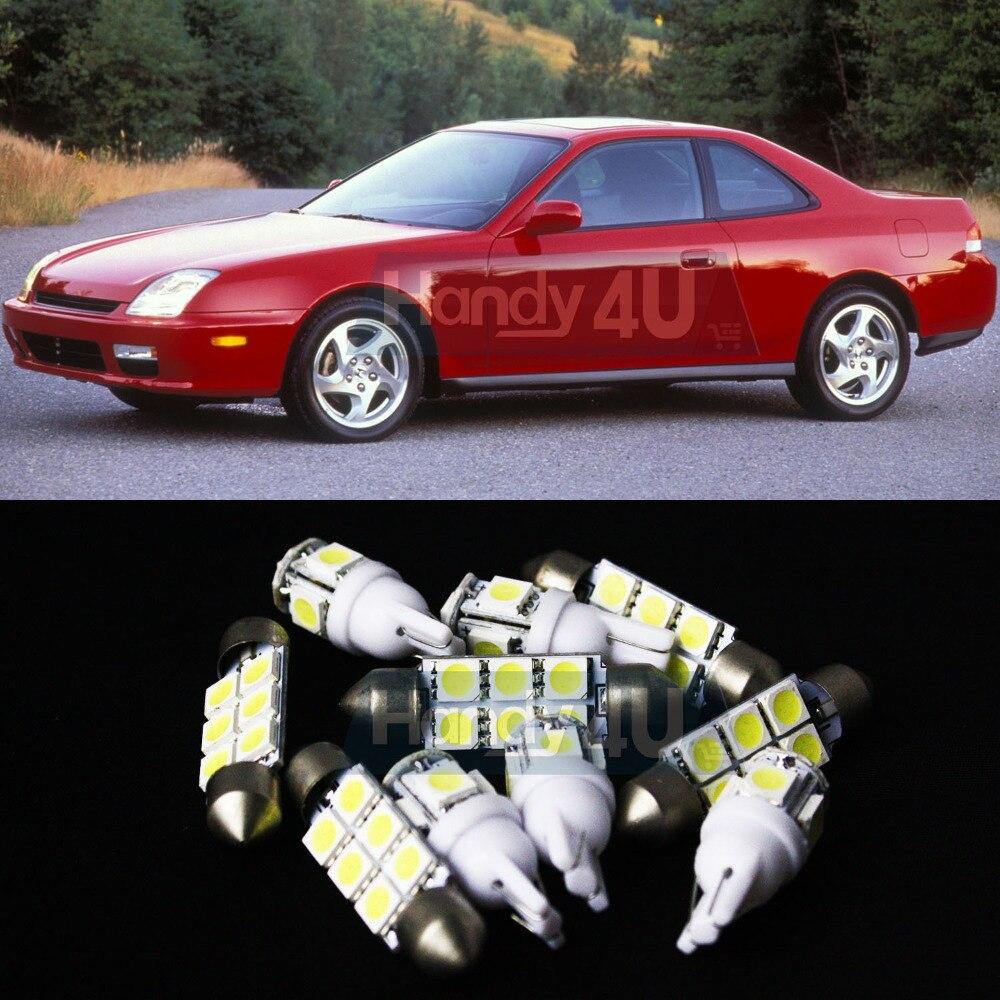 02 7x white led lights interior package kit for prelude honda