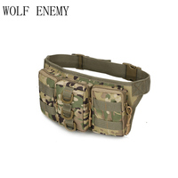 800D Oxford Outdoor Bags Military Tactical Molle Waist Pack Bag Camouflage Travel Sport Belt Bag Storage