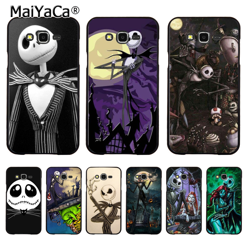 Nightmare Before Christmas Phone Case.Jack Skellington The Nightmare Before Christmas Phone Case For Samsung J5 J120 J3 J7 2015 Note 3 Note4 Note5 Case Coque