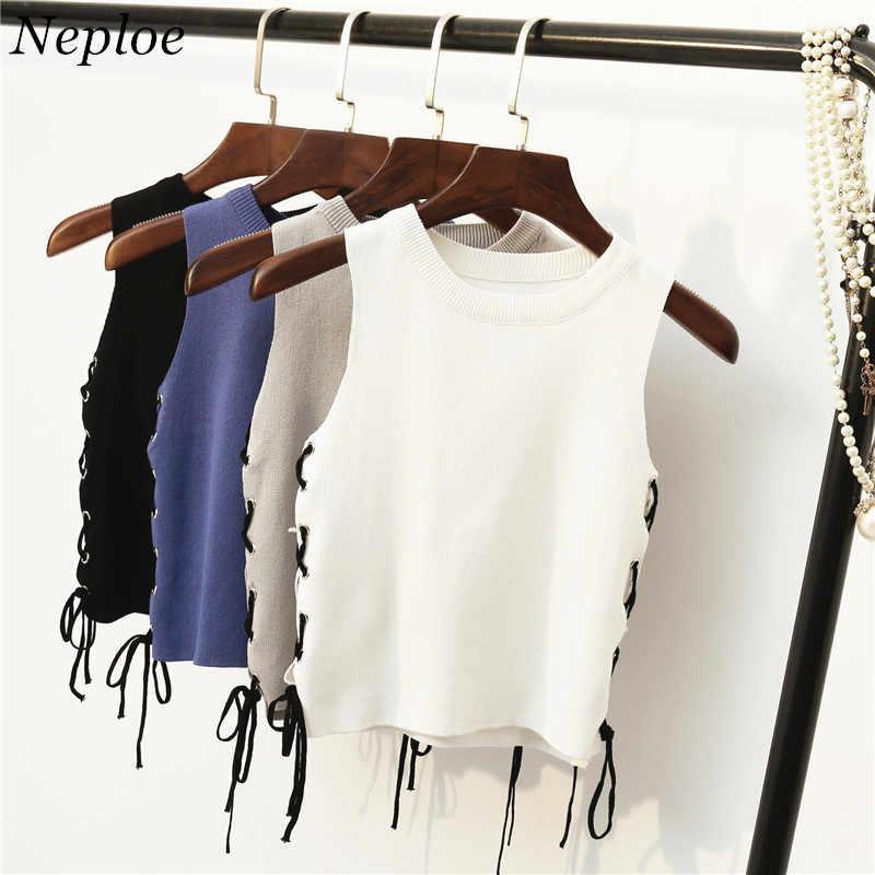 2020 4 צבעים חדשים קוריאה קיץ טי שרוולים T חולצה מזדמן לשרוך נשים T חולצה O-צוואר לסרוג קצר חולצות 65222
