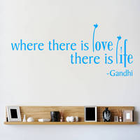 QP 50 Vinyl Text Wall Decals Quotes Inspire Hearts On A Stem Where There Is Love