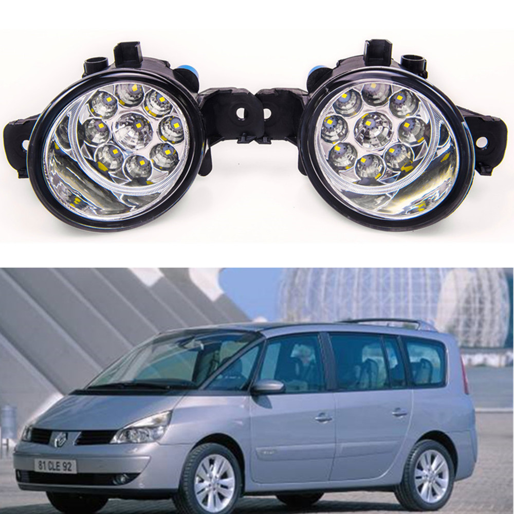 For RENAULT ESPACE 4 2003-2012 Car styling High brightness LED fog lights DRL lights 1SET anmar espace lux 2 в 1 тюмень