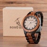 גבירותיי שעוני גברים חדשים עץ מלא עץ ציפור N30N28 בובו נשים למעלה מותג עיצוב שעונים עיצוב לאוהבים בקופסא מתנה