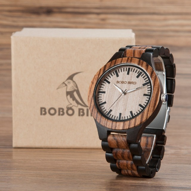 BOBO BIRD CdN30N28 Ladies and Men Sizes Wooden Watches New Full Wood Women Top Brand Design Clocks for Lovers in Gift Box