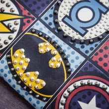 Superhero Decorated Envelope Clutch