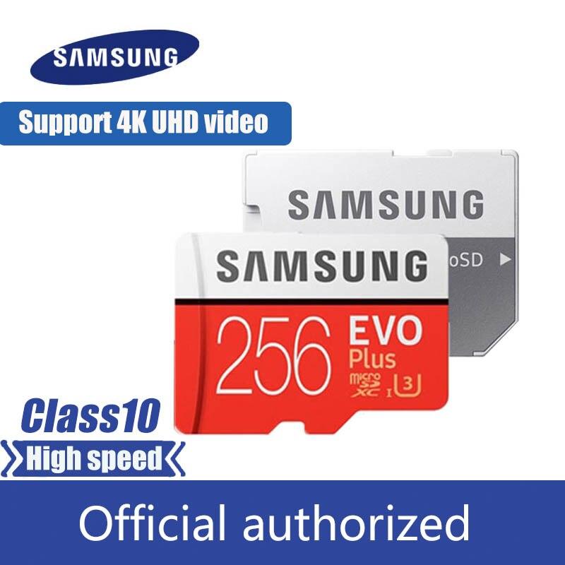 SAMSUNG EVO Plus carte mémoire Micro SD 256GB 95 MB/s Class10 U3 UHS-I carte TF 4K HD pour téléphone portable Smartphone tablette etc.