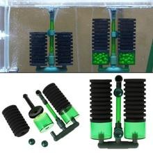 Aquarium Fish Tank Biochemical Sponge Filter Air Pump Double Head w/ Suction Cup Practical