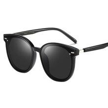 2019 New Brand Fashion Women Polarized Sunglasses Oversized Round Retro Ladies Black Red Woman Sun Glasses Driving