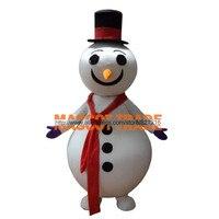 Novo estilo boneco de neve para o natal do traje da mascote do caráter trajes de halloween fancy dress suit frete grátis