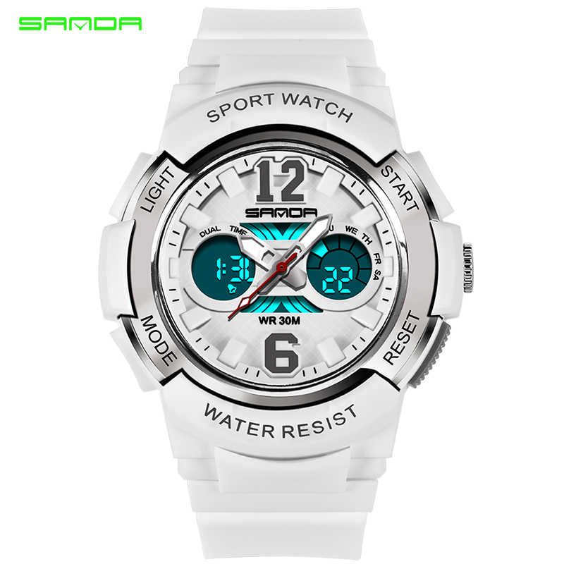 SANDA Rose Golden Sport Women's Watches Female Casual Watches Bracelet LED Digital Clock For Lady 2018 Relogio Feminino Dourado
