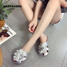 Rhine Stone Womens Summer Shoes Casual Fashion Flat Slippers Classic Fashionable