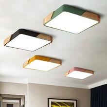 Modern kare 220V LED tavan ışıkları akrilik kısılabilir tavan lambaları mutfak oturma odası yatak odası çalışma koridor otel odası