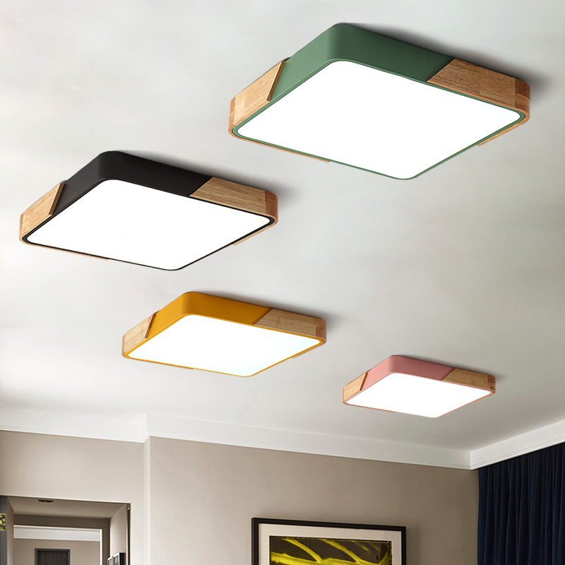 US $23.1 30% OFF|Modern square 220V LED ceiling lights acrylic dimmable  ceiling lamps for kitchen living room bedroom study corridor hotel room-in  ...