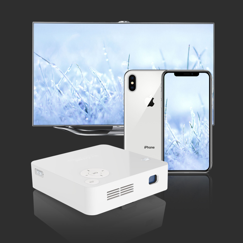 Ezcast Mini HD Projector Portable Home LED Projector Wireless Screen Projector Jun6 ...