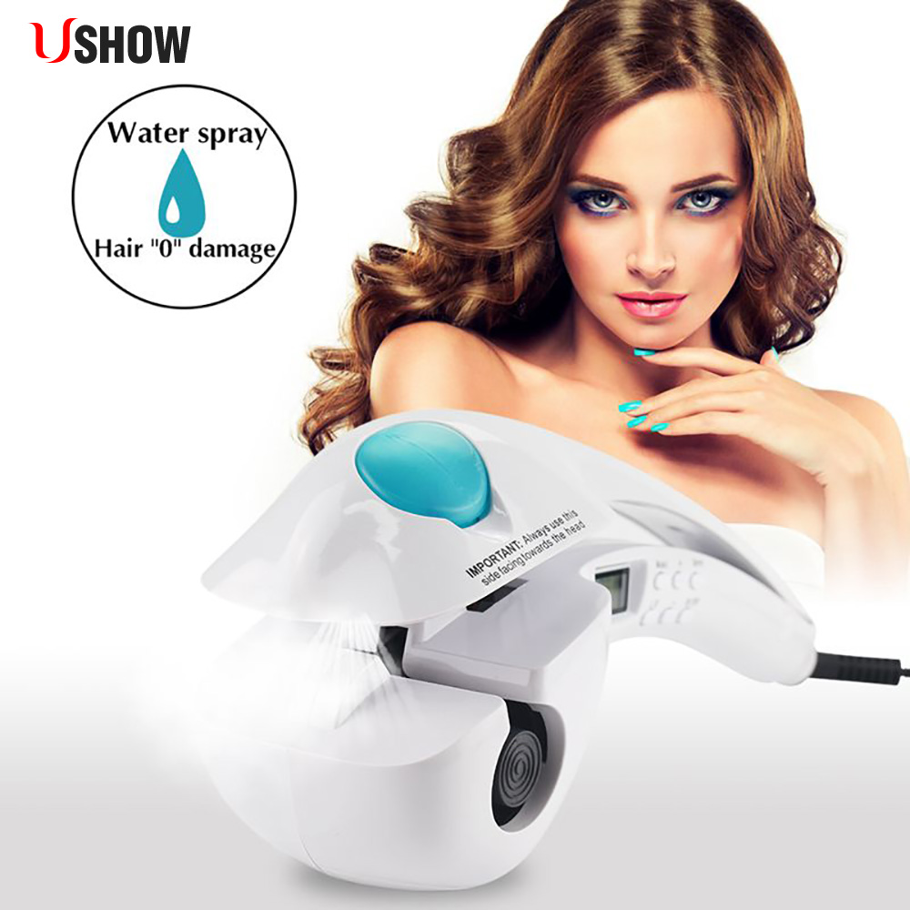 Magic Electric Hair Curler Negative Ion Protect Hair Curling Iron LCD Display Automatic Steam Spray Hair Curl Roller Hair ToolMagic Electric Hair Curler Negative Ion Protect Hair Curling Iron LCD Display Automatic Steam Spray Hair Curl Roller Hair Tool