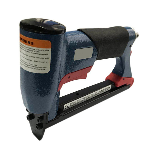 "Naile Gun 4-16mm 1/2"" Pneumatic Air Stapler Nailer Fine Stapler Gun for Furniture Blue Woodworking Pneumatic Air Power Tool"