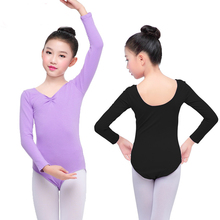 2019 Girl Ballet Dance Clothes U Back Design Kids Dance Clothes Training Leotards Wear For Girls Top Quality Children Bodysuit crab print u back bodysuit