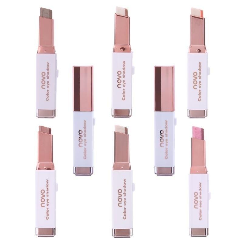 6 Styles Eyeshadow Pencil Matte Waterproof Earth Smoke Makeup Eye Shadow Beauty Two Tone Gradual Change Comestic Eyeshadow Stick