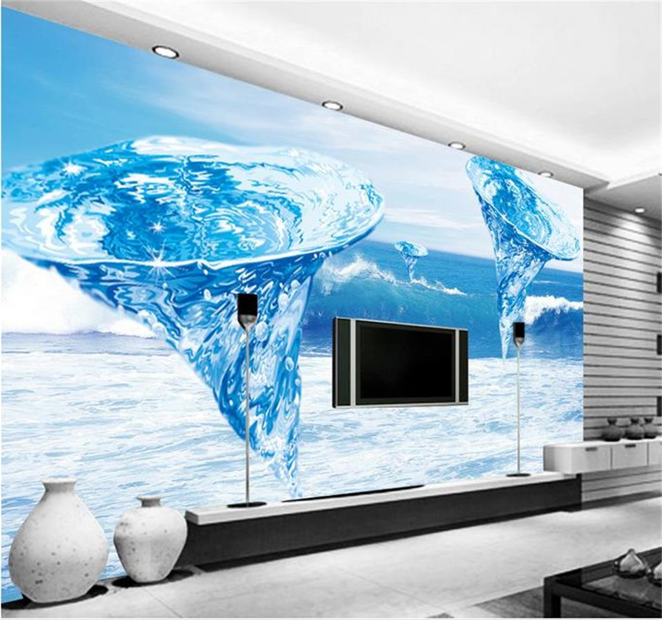 Custom Wallpaper Home Decor Room 3D Photo Mural Ocean Tornado