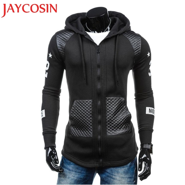 d9dd38e262244 Wonderful Men Leather Winter Warm Hooded Sweatshirt Coat Jacket Outwear  Sweater Coats Plus Size Suitable Coat Drop Shipping 724