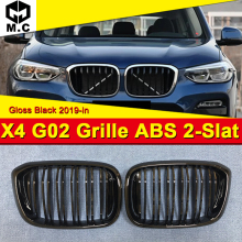 Fits For BMW X4 G02 M Performance Accessory gloss black kidney grille grill ABS M style Front Kidney Grills Mesh 1 Pair 2019-in