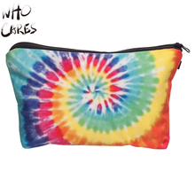 Who Cares Colorful Dye 3D Printing Maleta de Maquiagem Necessaire Party Makeup Bag Women Cosmetic Bag Wild Organizer Make up Bag
