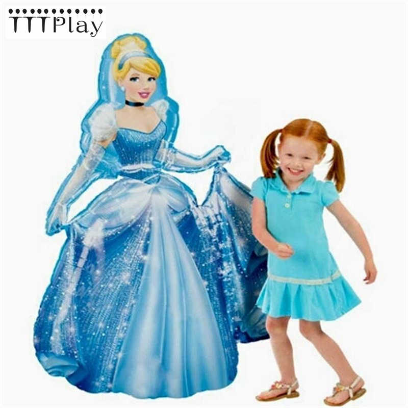 1pc 93*55cm Large Belle Aurora Cinderella Snow White Elsa Princess Foil Balloons Baby Birthday Party Decoration Helium Balloons