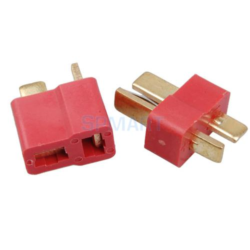 10 Sets of T Plug Male and Female Connector for LiPo Battery