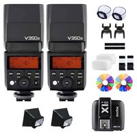 2X Godox V350S TTL HSS Speedlite Flash With Built in 2000mAh Li ion Battery +X1T S / Xpro S Trigger For Sony A77 A77 II A7R