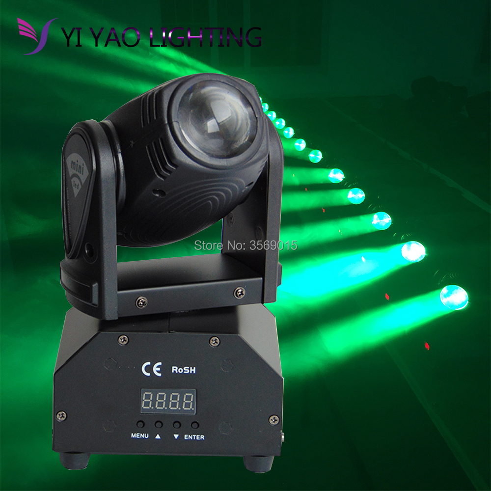 DMX512 Rotating RGBW Effect Lamp 10W LED Moving Head Light Stage Lighting
