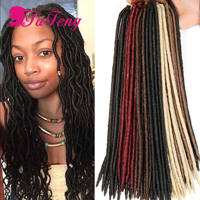 Crochet Braids Goddess Faux Locs Crochet Hair Extension 18 Inch