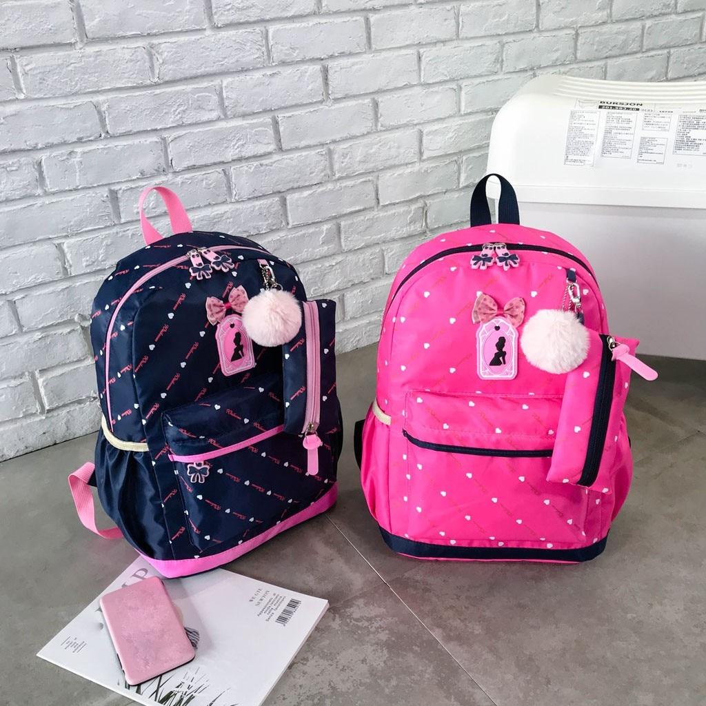 Women Bow Canvas Three-piece School Bag 47
