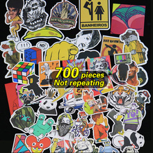 700pcs Not repeating more logo waterproof stickers for Wall decor skateboard motorcycle Bike refrigerator laptop car